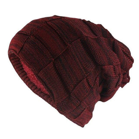 Thick Basket Weave Fur Lined Wool Cap (7 Available Color)