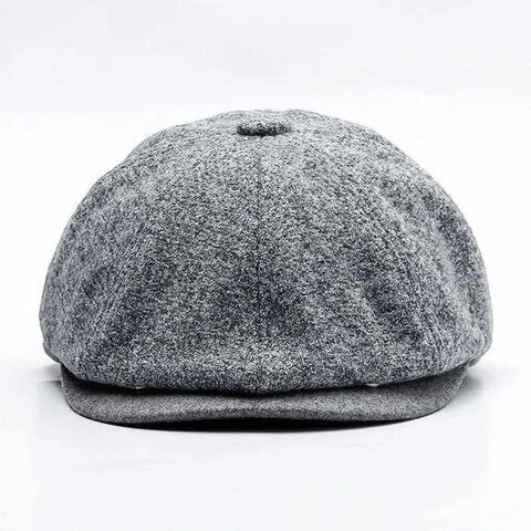 Adjustable Bill Polyester Tweed Cap