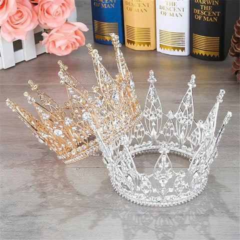 King and Queen Tiara Rhinestones Crown