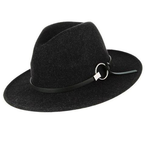 Round Buckle Slim Leather Belt Polyester Hat (7 Available Colors)