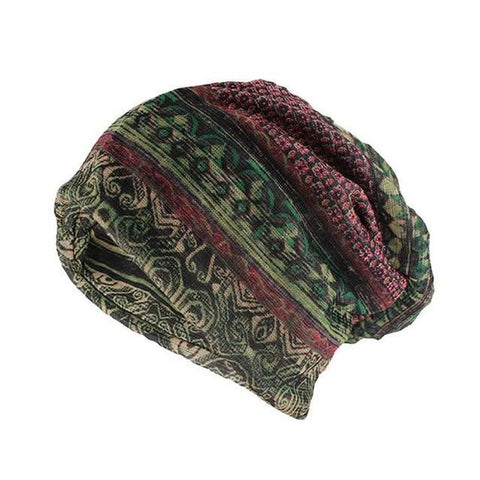 Hippie Layered Rayon Scarf Cap (3 Available Color)