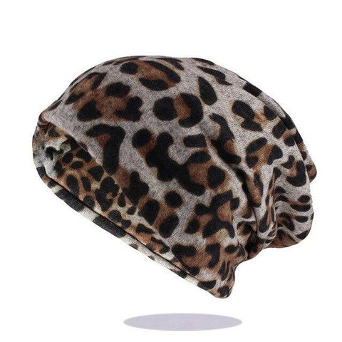 High Fashion Leopard Print Cotton Beanie (2 Available Color)