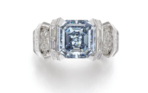 The Sky Blue Diamond Ring by Cartier