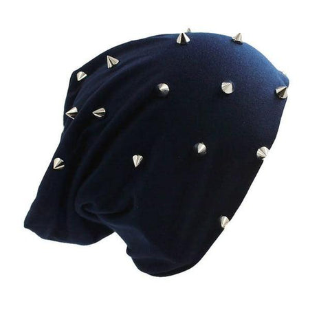 Punk Silver Spike Studded Polyester Cap (6 Available Color)
