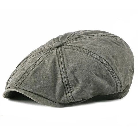 Stonewash Eight Panel Denim Cotton Cap