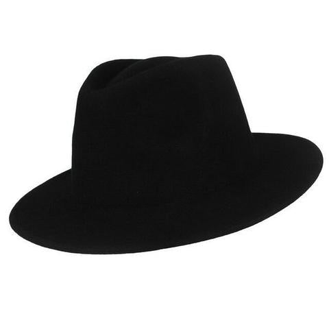 Classic Teardrop Dented Crown Wool Hat (2 Available Colors)