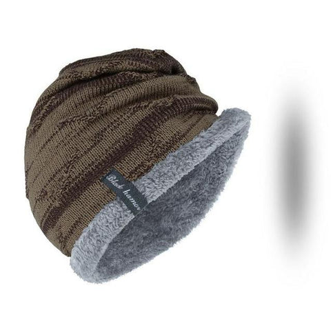 Furry Wool & Cotton Knitted Cap (5 Available Color)