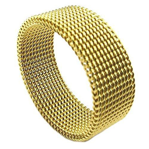 Flexible Gold Plated Stainless Fashion Ring