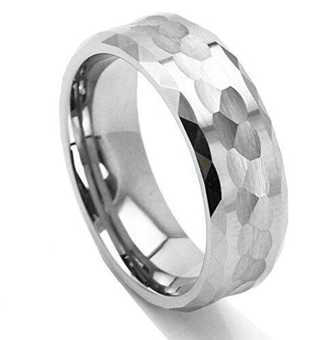Multi-faceted Geometric Men Tungsten Carbide Ring Wedding Band