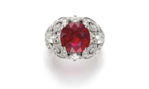 Superb Ruby and Diamond Ring by Cartier