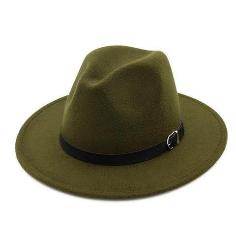 Classic Belt Hatband Felt Fedora Hat (9 Available Colors)