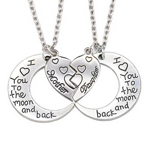 Mom & Daughter Crescent Moon Necklace Set