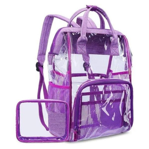 Multi-Functional PVC School Transparent Backpack in Four Colors