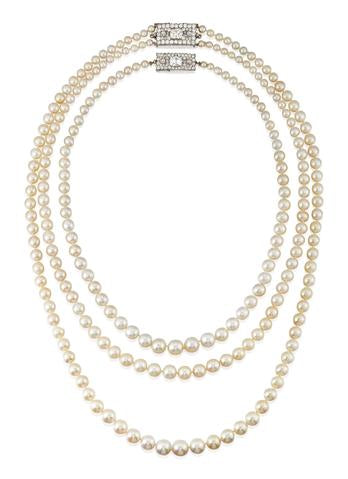 The Dodge Pearl Necklace by Cartier