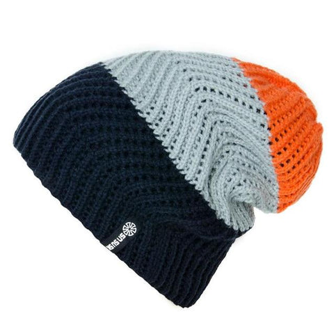 Tricolor Cotton Knitted Ribbed Cap (4 Available Color)