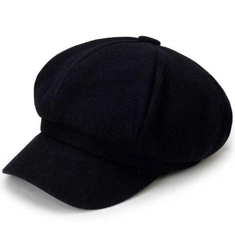 Muffin Top Eight Panel Wool Baker Boy Hat