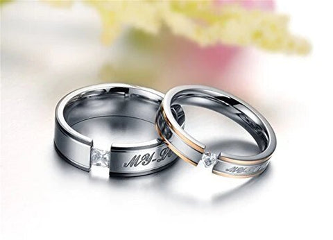 My Love Couple Ring Silver Band