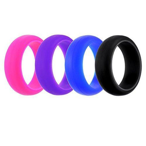 Four Colorful Silicone Ring Set
