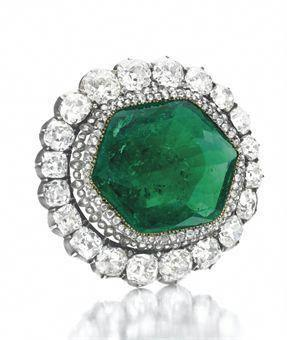 The Catherine the Greta Emerald Brooch