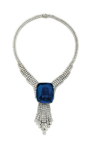 Sapphire and Diamond Necklace (The Blue Belle of Asia)