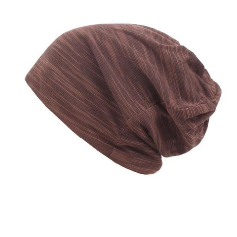 Thin Cotton Woven Slouch Beanie (3 Available Color)