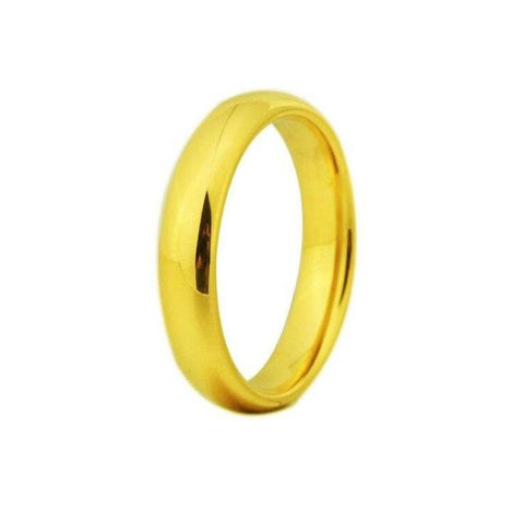 Unisex Plated Tungsten Carbide Wedding Ring