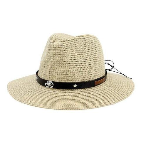 Scorpion Studs Leather Hatband Panama Hat (8 Available Colors)