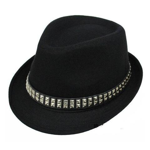 Bejeweled Square Silver Hatband Polyester Hat (3 Available Colors)