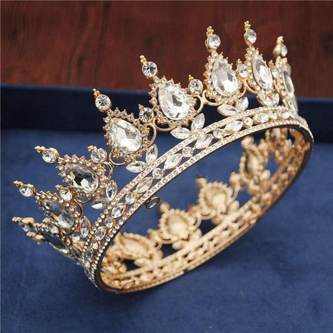 Gold or Silver Plated Floral Tulip Crown