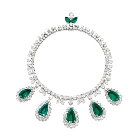 Emerald and Diamond Necklace by Harry Winston