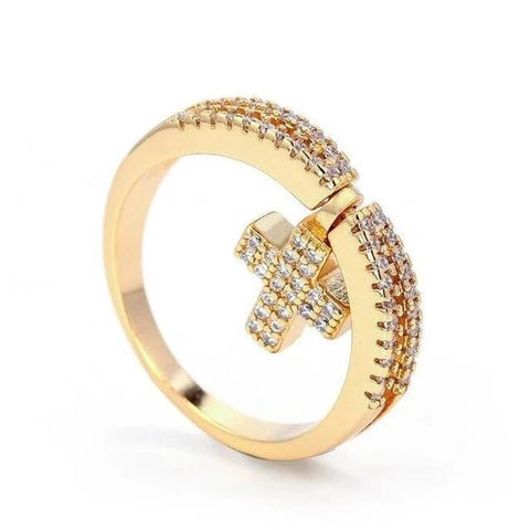 Two Way Wear Crystal Pave Cross Hoop Stainless Earring