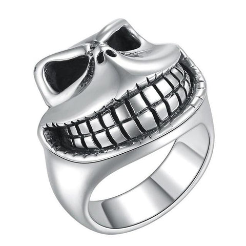 Laughing Skull Ghost Sterling SIlver Ring