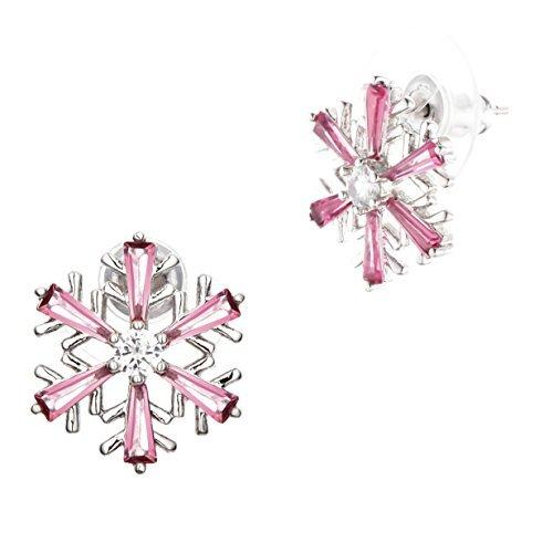 Hypoallergenic Surgical Steel Christmas Snowflake Stud Earrings - InnovatoDesign