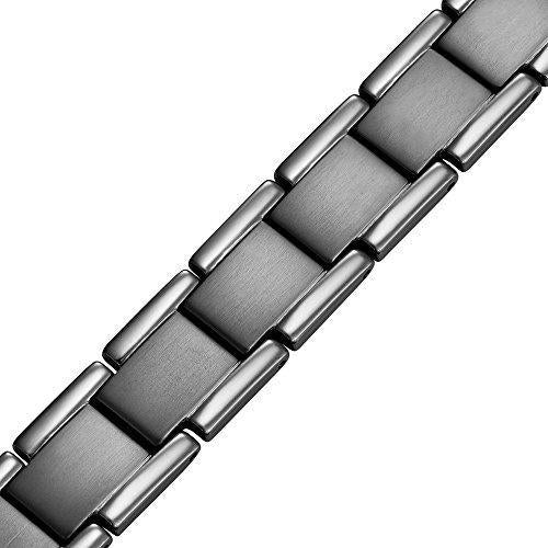 Double Strength Titanium Magnetic Therapy Bracelet For Arthritis Pain Relief Gray