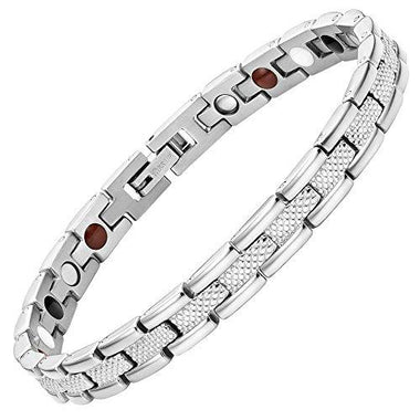 Women Strong 4 Element Titanium Magnetic Therapy Bracelet for Arthritis Pain Relief Size Adjusting Tool and Gift Box Included By Willis Judd - InnovatoDesign