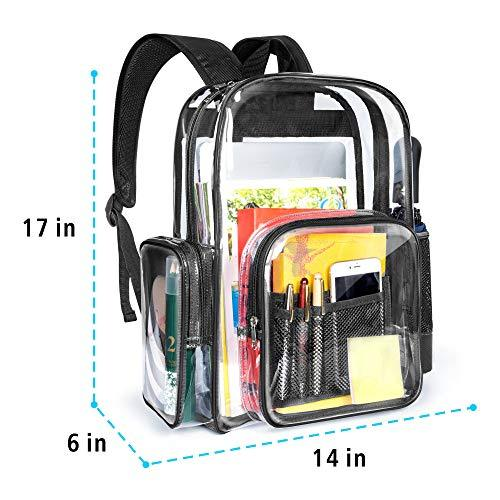 Clear Backpack Transparent See Thru School Large Security Bookbag Waterproof Reinforced Straps - InnovatoDesign