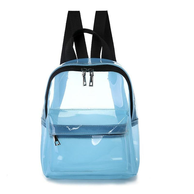 Transparent Jelly School Bag for Teenage Girls - InnovatoDesign