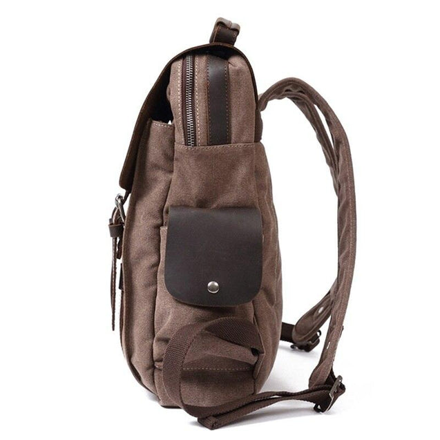 Vintage Canvas Leather School 20 Litre Backpack - InnovatoDesign