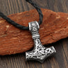 Thor's Hammer Amulet Pendant Necklace with Leather or Stainless Steel Chain - InnovatoDesign