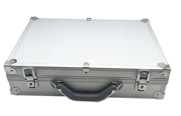 Silver Luxury Watch and Jewelry Suitcase Metal Storage Box - InnovatoDesign