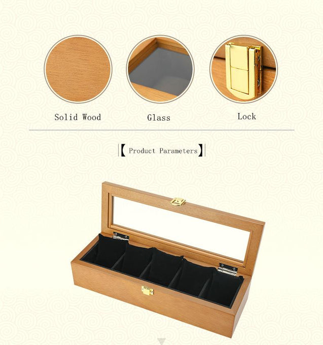 5 Slots European Wooden Mechanical Watch Organizer - InnovatoDesign