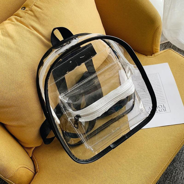 Clear Transparent School Mini Backpack For Teenage Girls - InnovatoDesign