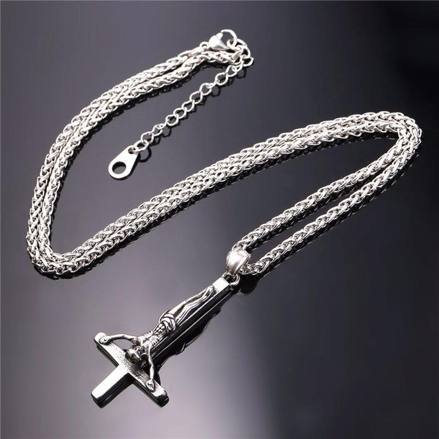 Upside Down/ Inverted of St. Peter Cross Pendant Necklace - InnovatoDesign