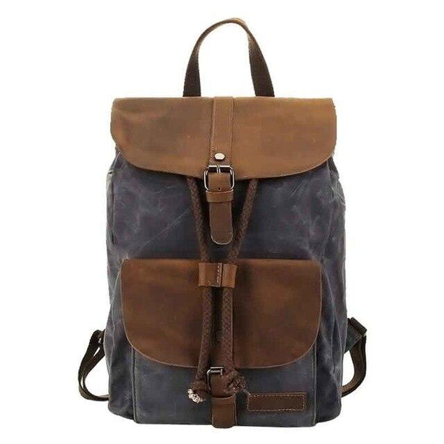 Canvas Leather Waterproof Multifunctional 20 to 35 Litre Backpack - InnovatoDesign