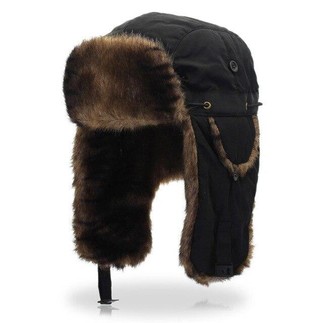 Fur Bomber Hat with Earflaps
