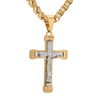 Gold/Silver Tone Stainless Steel Crucifix Pendant Necklace - InnovatoDesign