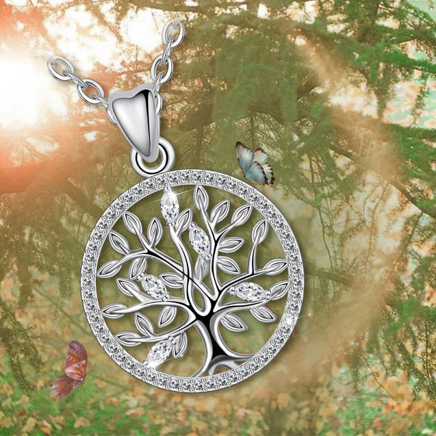 925 Sterling Silver Tree of Life Pendant Necklace - InnovatoDesign