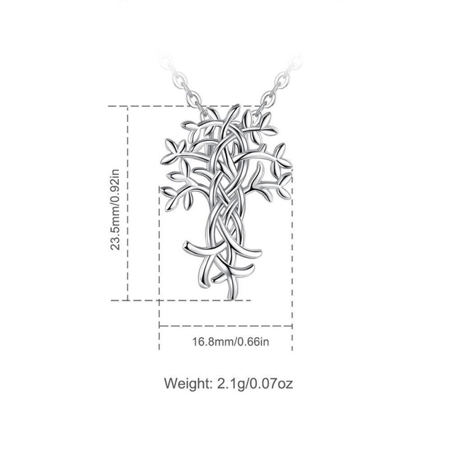 925 Sterling Silver Tree of Life Irish Knot Pendant Necklace - InnovatoDesign