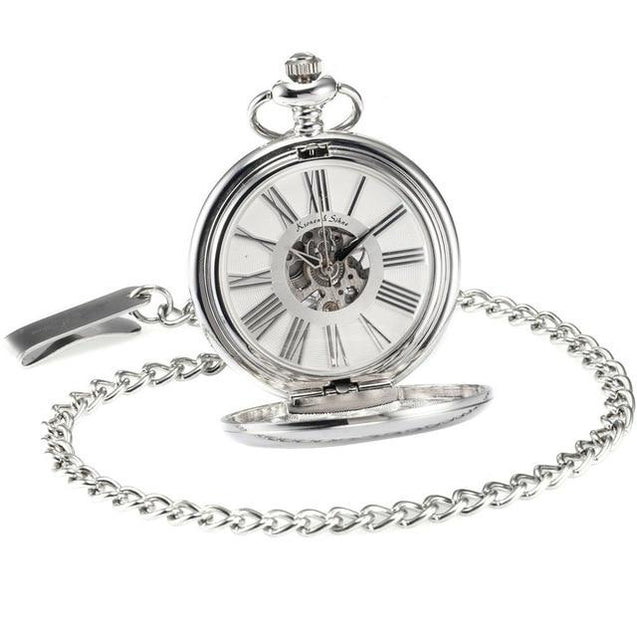 Smooth Classic Pocket Watch Design in Different Metal Colors - InnovatoDesign