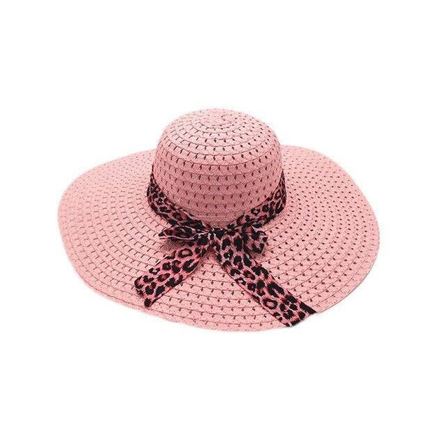 Foldable Floppy Wide Brim Straw Sun Hat with Bowknot